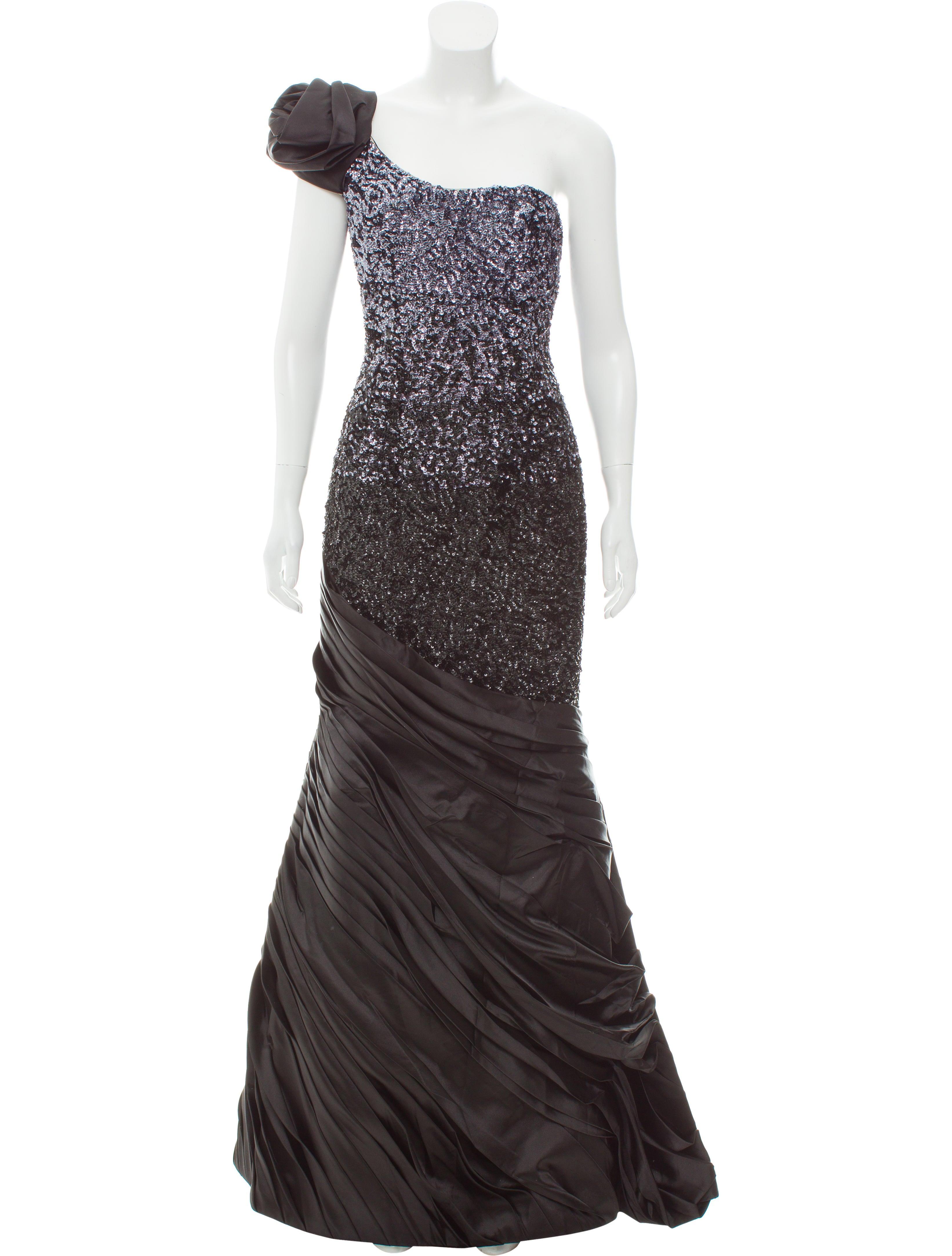 Jovani Sequin Embellished One-Shoulder Evening Gown w/ Tags ...