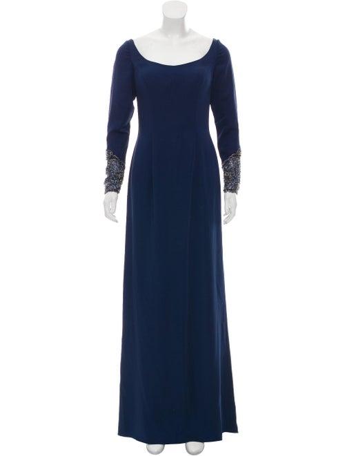 Jovani Long Sleeve Evening Dress Navy