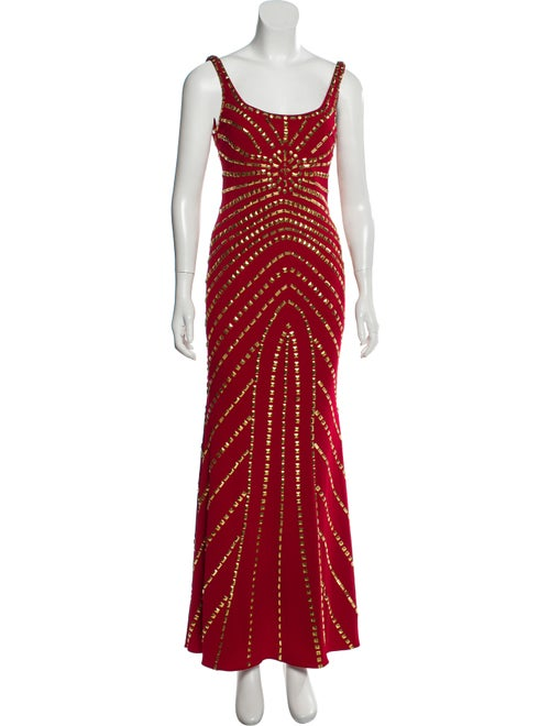 Jovani Studded Evening Dress Red