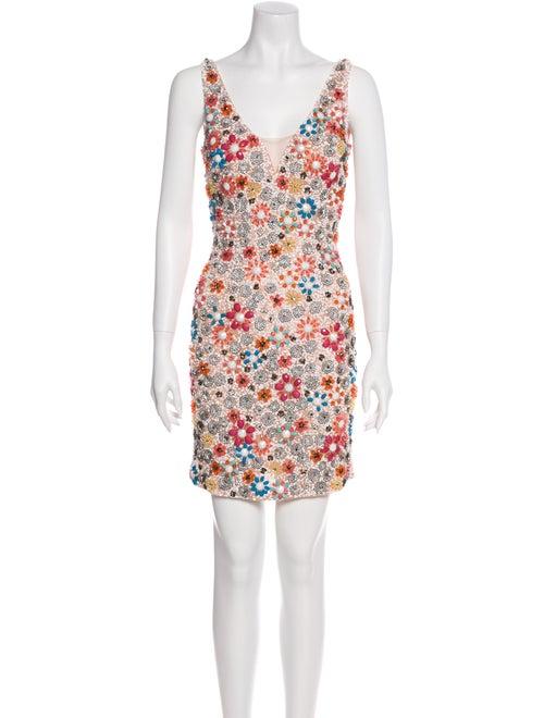 Jovani Floral Print Mini Dress