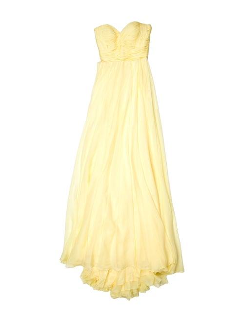 Jovani Strapless Long Dress Yellow
