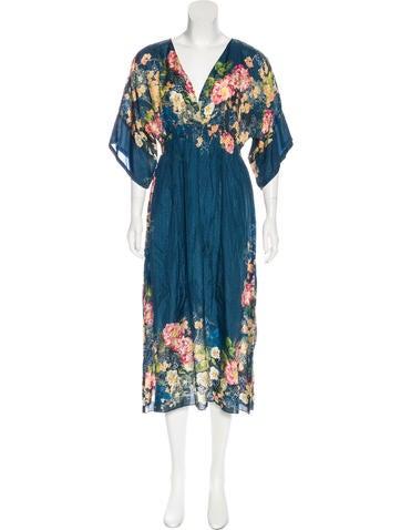 Johnny Was Silk Printed Dress Clothing Wjowa20008