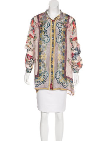 Johnny Was Silk Printed Top Clothing Wjowa20011 The