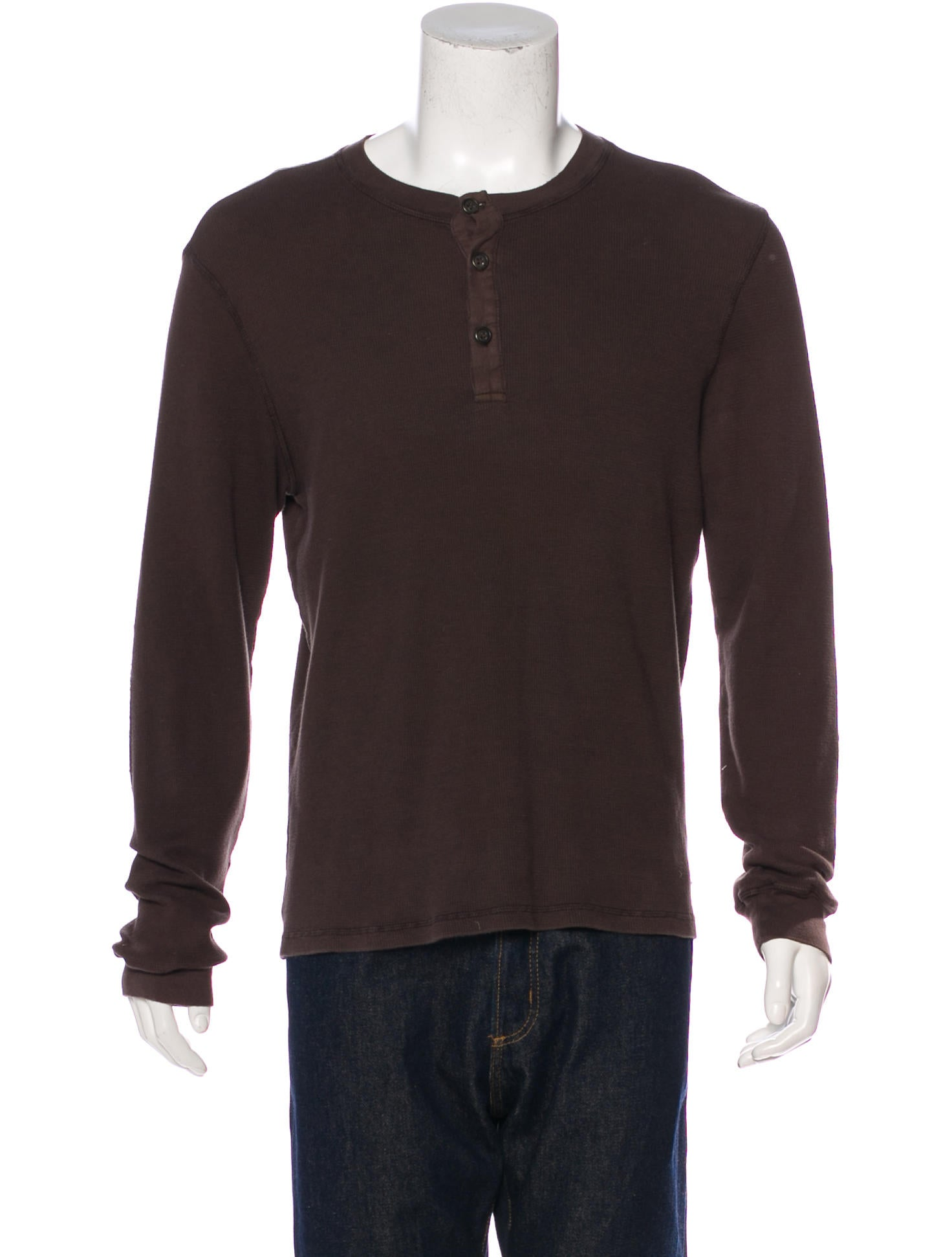 James perse thermal henley t shirt clothing wjp20350 for James perse henley shirt
