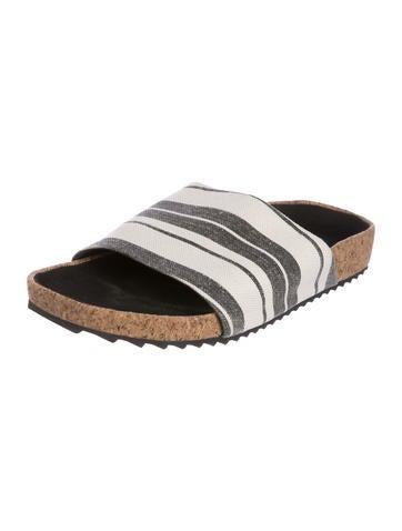 James Perse 2018 Canvas Slide Sandals cheap cost YGUlpz0q9