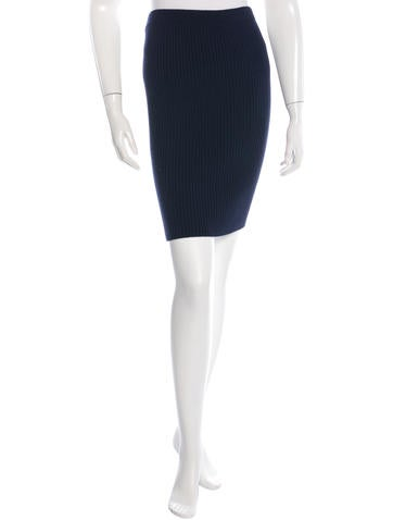 Jacquemus Rib Knit Bodycon Skirt None