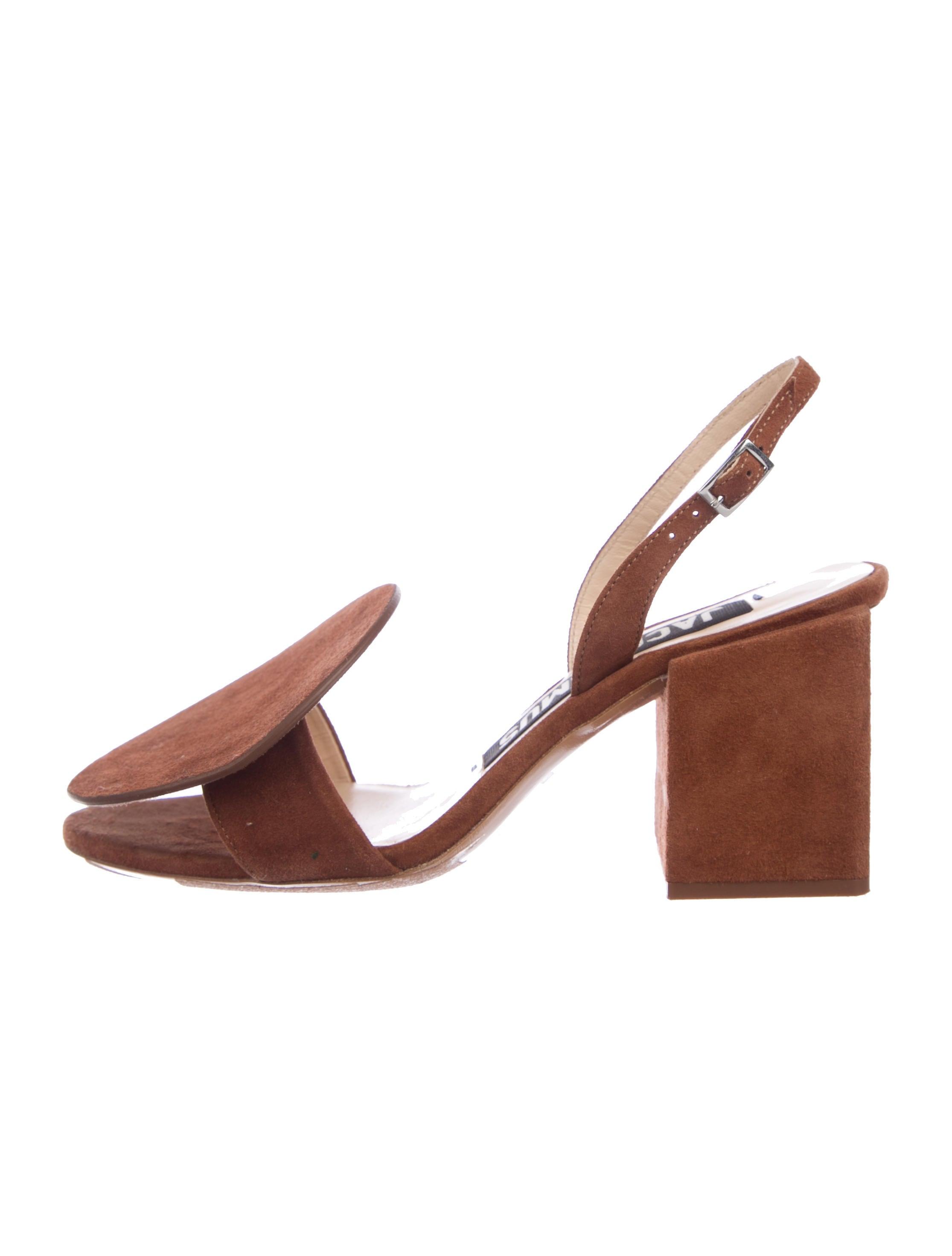fb815b54886 Jacquemus Suede Slingback Sandals - Shoes - WJQ21008