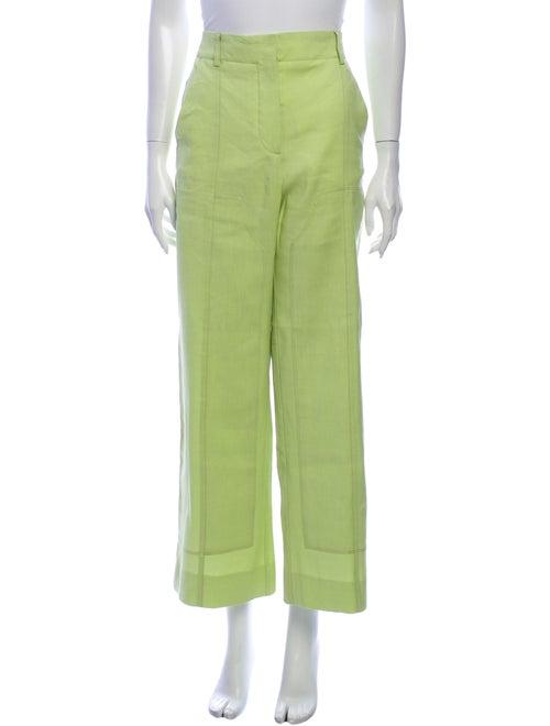 Jacquemus Wide Leg Pants Green