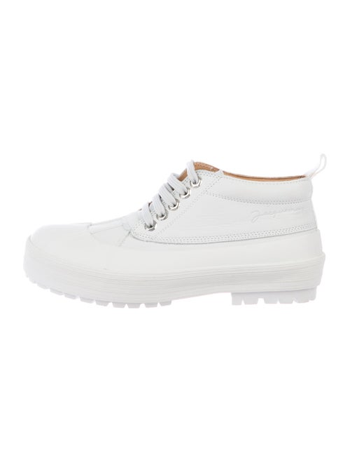 Jacquemus Leather Lace-Up Boots White