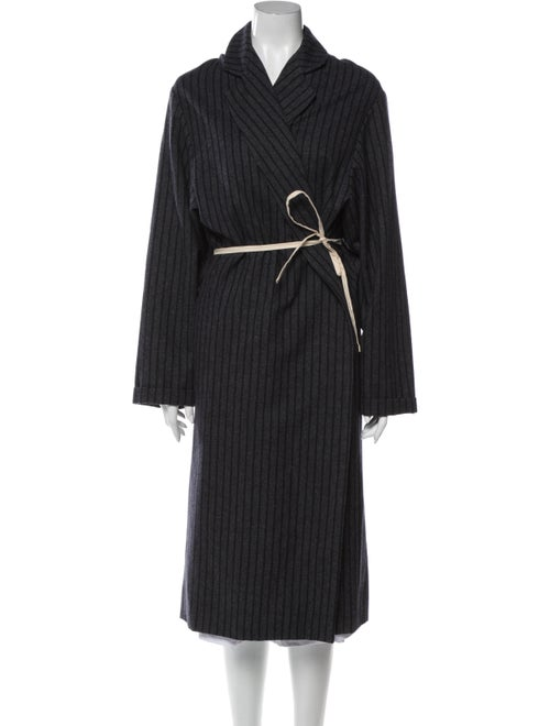 Jacquemus Wool Striped Coat Wool