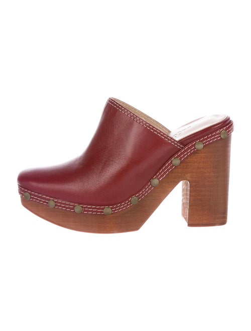 Jacquemus Leather Mules Red