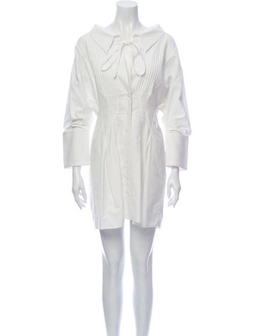 Jacquemus Tie Neck Mini Dress White