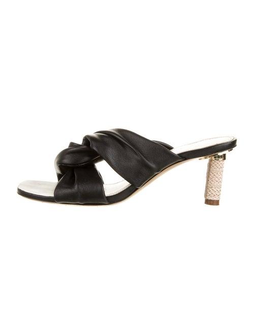 Jacquemus Leather Slides Black