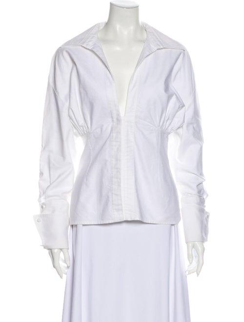 Jacquemus Long Sleeve Blouse White