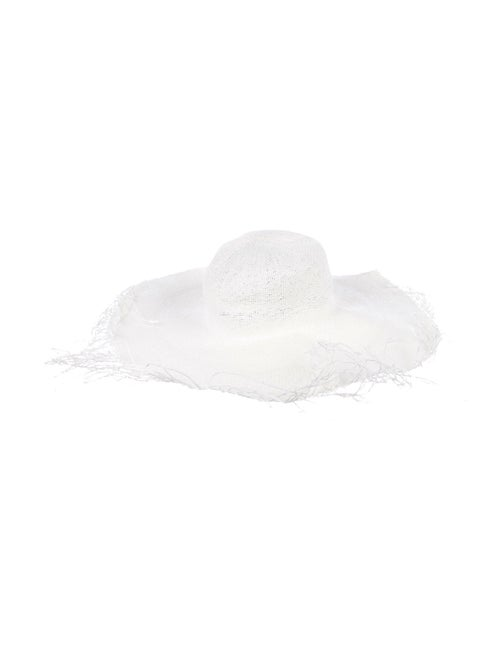 Jacquemus Straw Sun Hat White