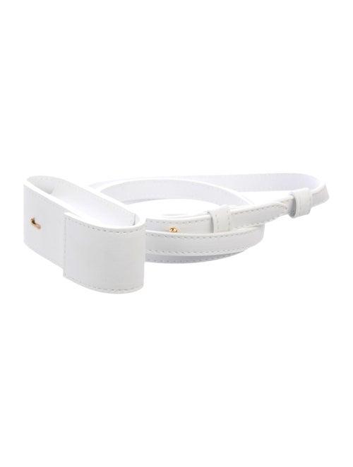 Jacquemus Leather Skinny Belt White