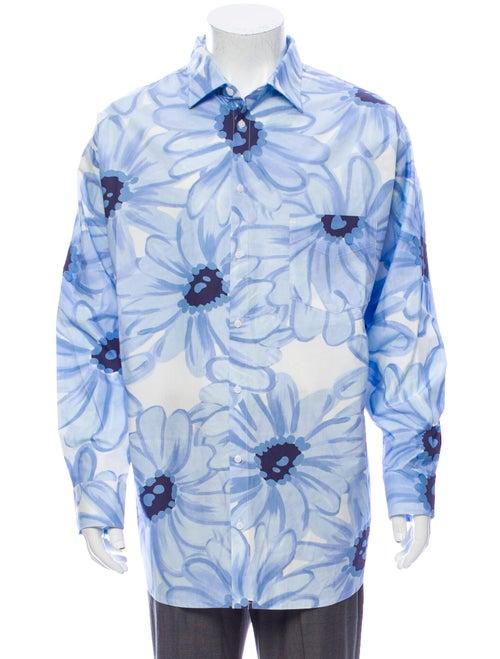 Jacquemus Printed Long Sleeve Shirt Blue