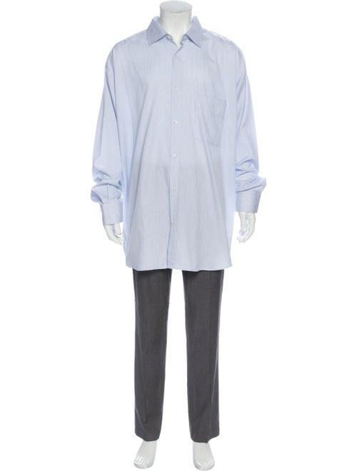 Jacquemus Oversized Striped Dress Shirt Blue