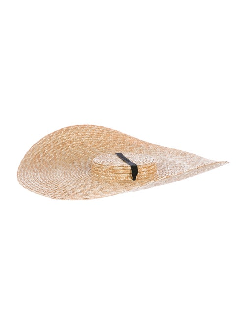 Jacquemus Straw Wide-Brim Hat Tan