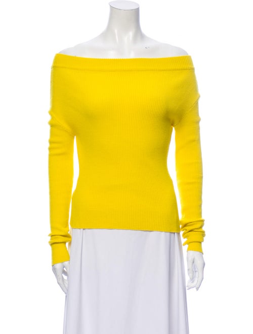 Jacquemus Off-The-Shoulder Sweater Yellow