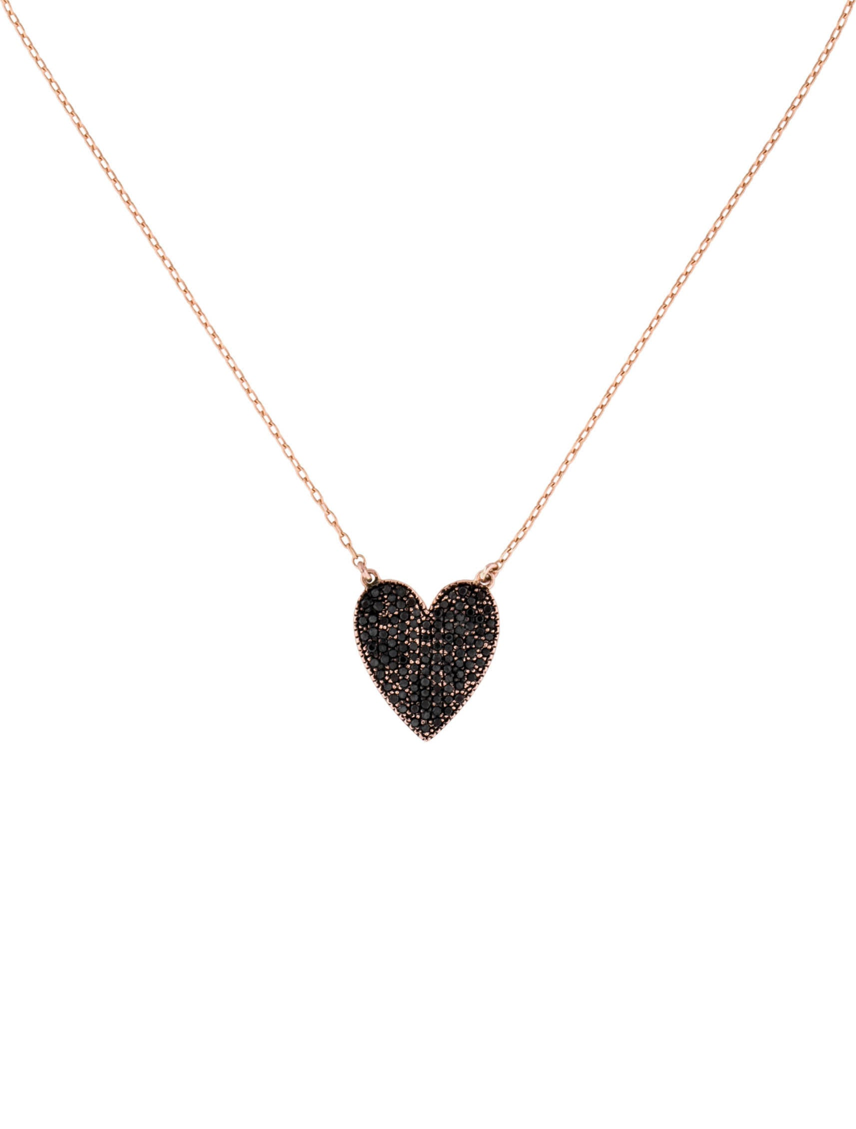 diamond image lisa moon black products necklace crescent love