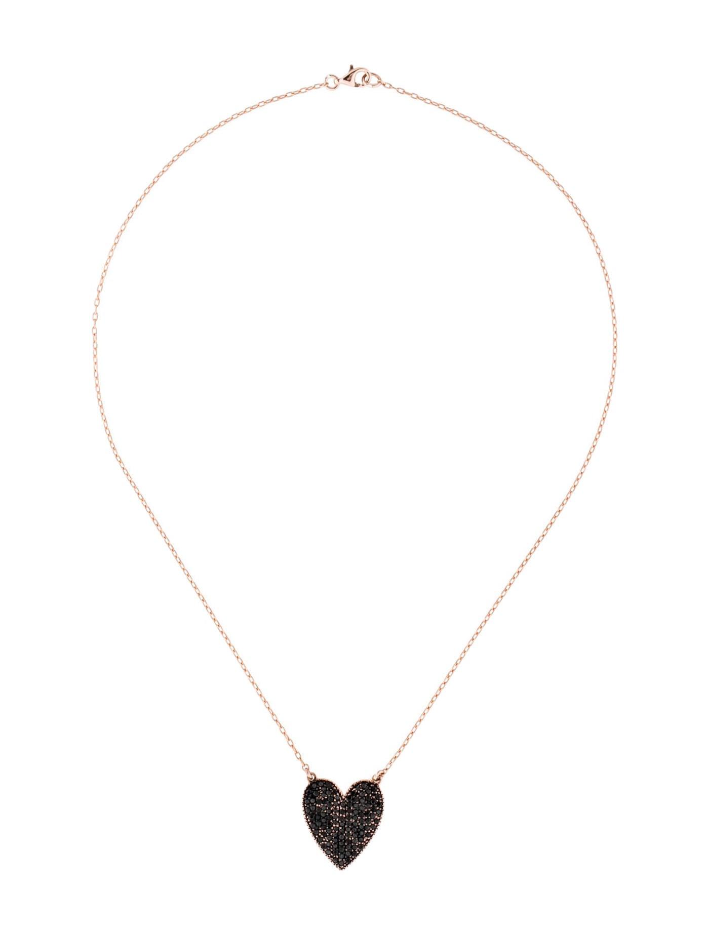 Jennifer Fisher 14K Black Diamond Heart Pendant Necklace