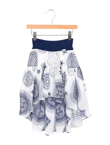 Junior Gaultier Girls' Printed High-Low Skirt w/ Tags None