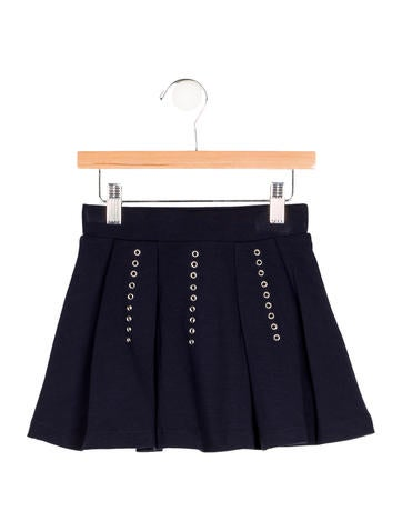 Junior Gaultier Girls' Grommet-Accented Circle Skirt w/ Tags None