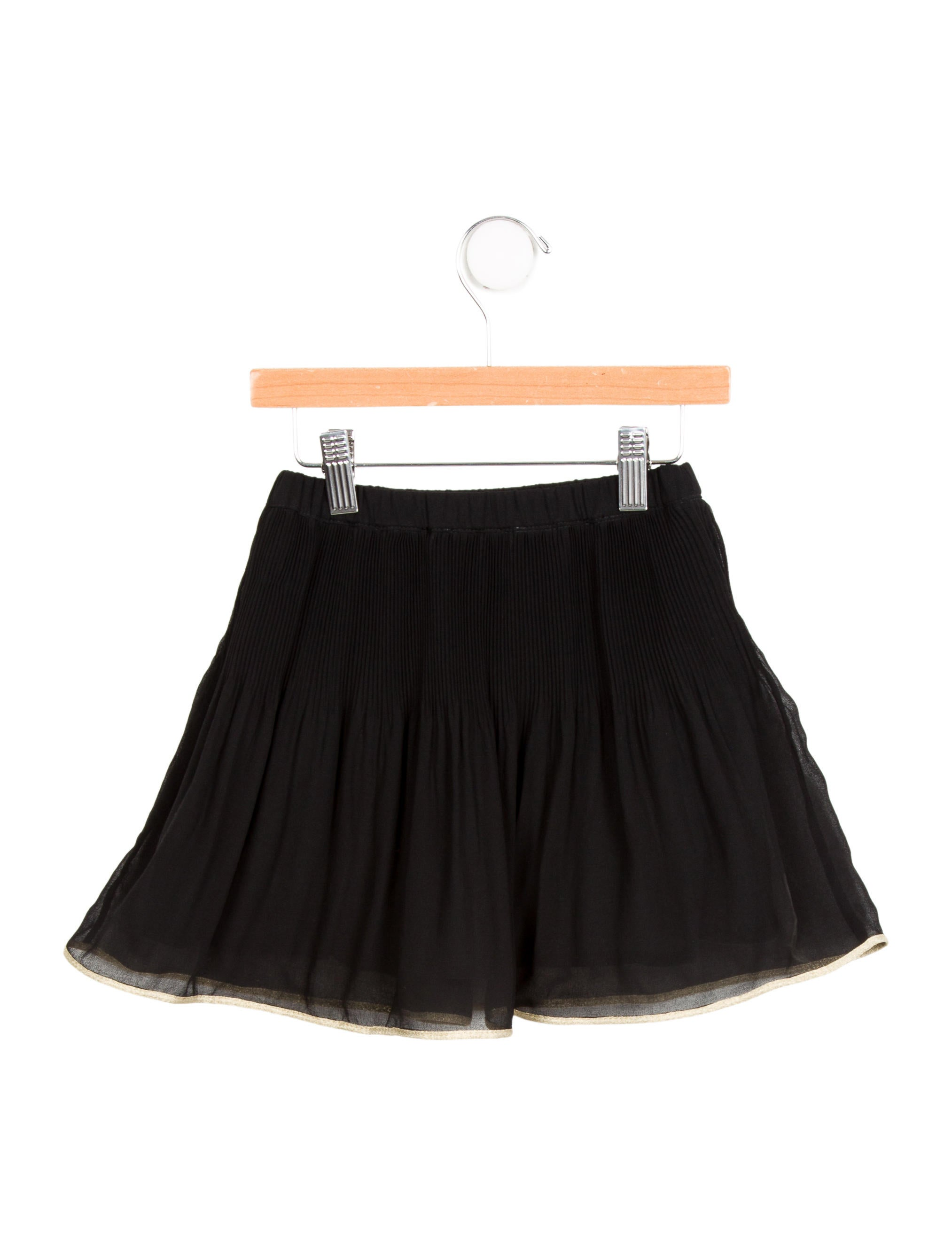 junior gaultier pleated circle skirt