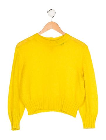 Junior Gaultier Girls' Rib Knit Long Sleeve Sweater None