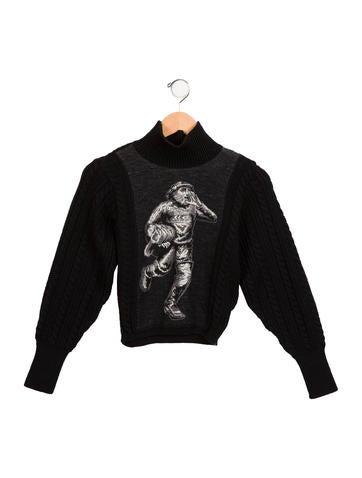 Junior Gaultier Boys' Intarsia Wool-Blend Sweater None