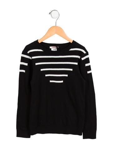Junior Gaultier Girls' Striped Lightweight Sweater None
