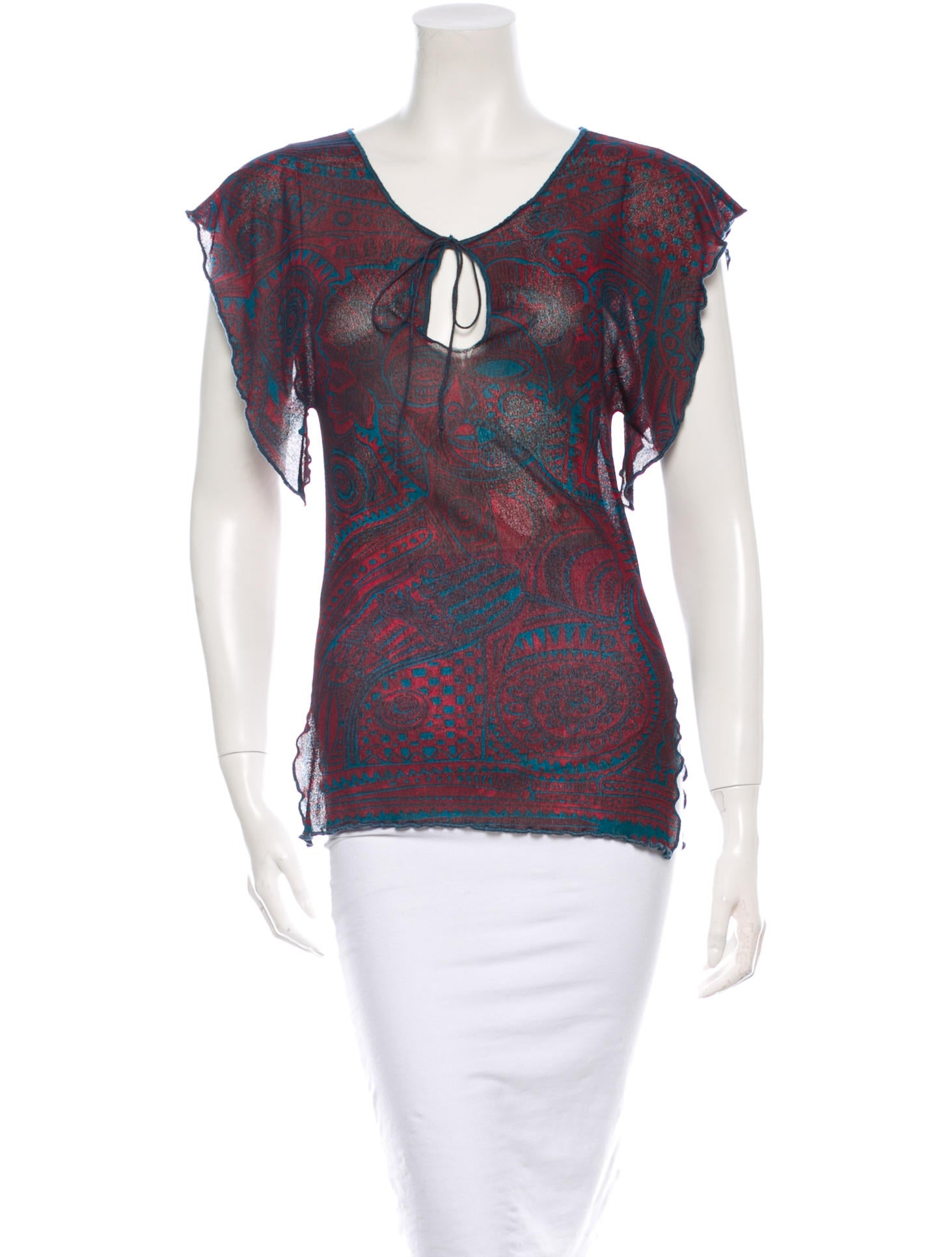 Jean paul gaultier soleil printed top clothing for Jean paul gaultier clothing