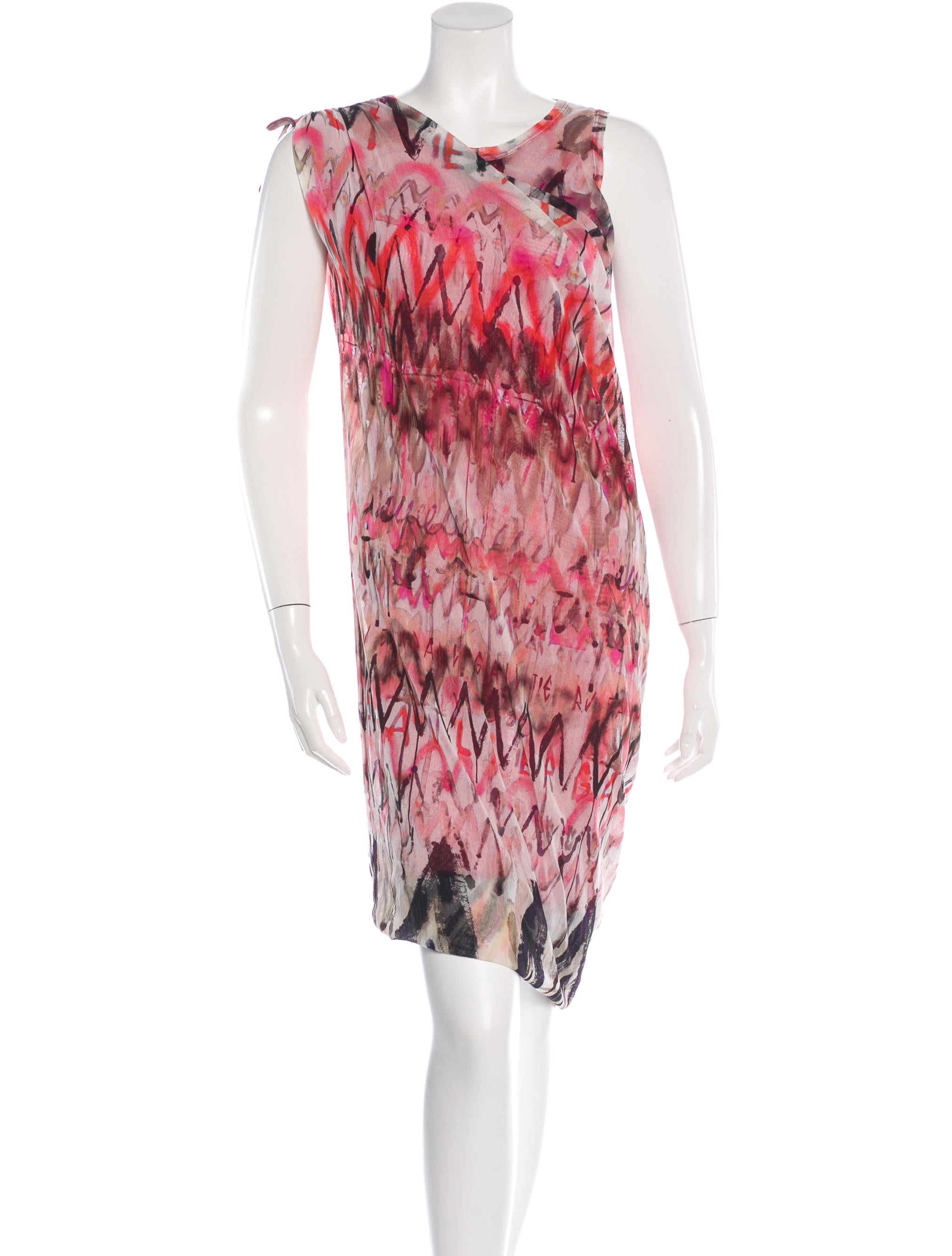 Jean paul gaultier abstract print midi dress clothing for Jean paul gaultier clothing