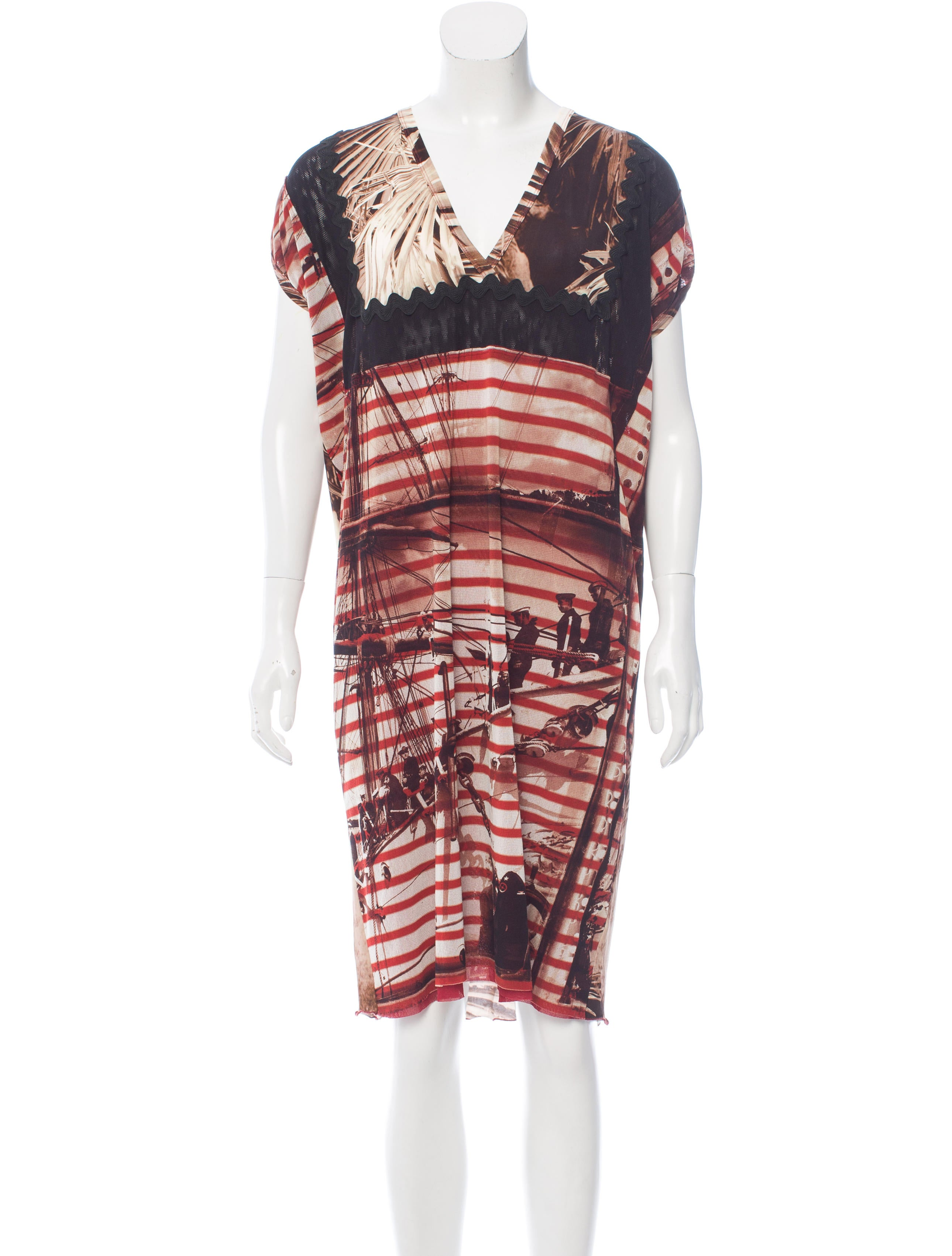Jean paul gaultier soleil graphic shift dress w tags for Jean paul gaultier clothing
