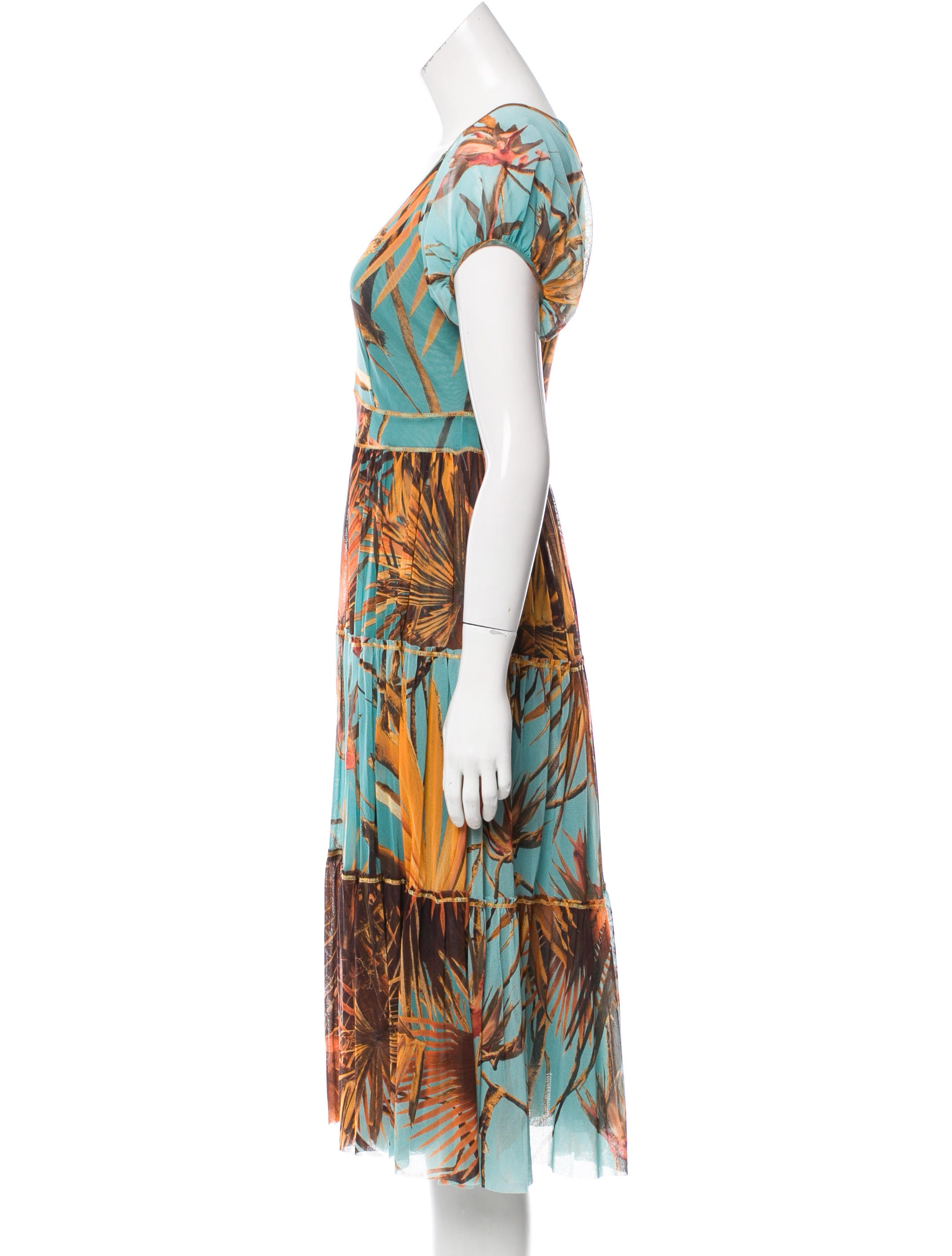 Jean paul gaultier soleil printed midi dress w tags for Jean paul gaultier clothing