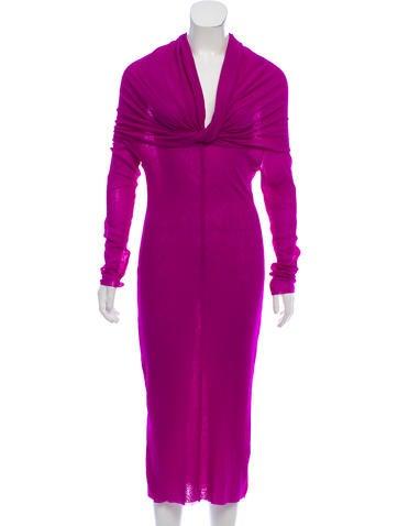 Jean Paul Gaultier Soleil Long Sleeve Midi Dress None