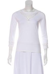 7a7dc2a91f4676 Jean Paul Gaultier Soleil. Open Knit Long Sleeve Top