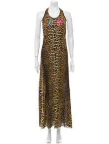 Jean Paul Gaultier Soleil Animal Print Long Dress