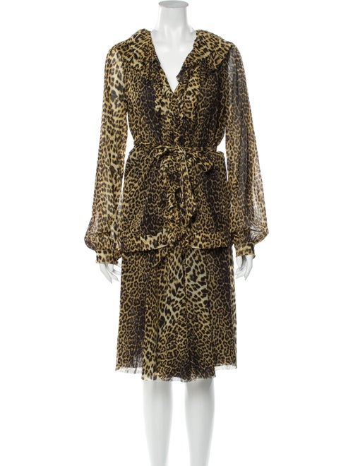 Jean Paul Gaultier Soleil Animal Print Skirt Set