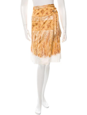 Just Cavalli Printed Wrap Skirt
