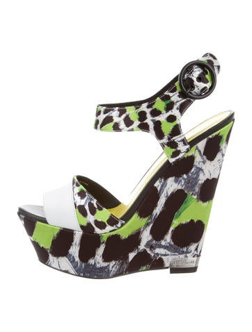 Animal Print Platform Wedges w/ Tags