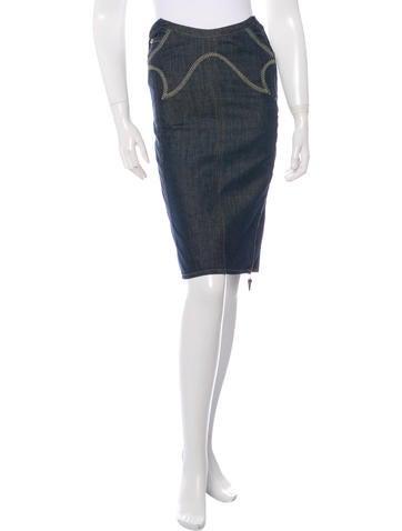 Just Cavalli Denim Pencil Skirt