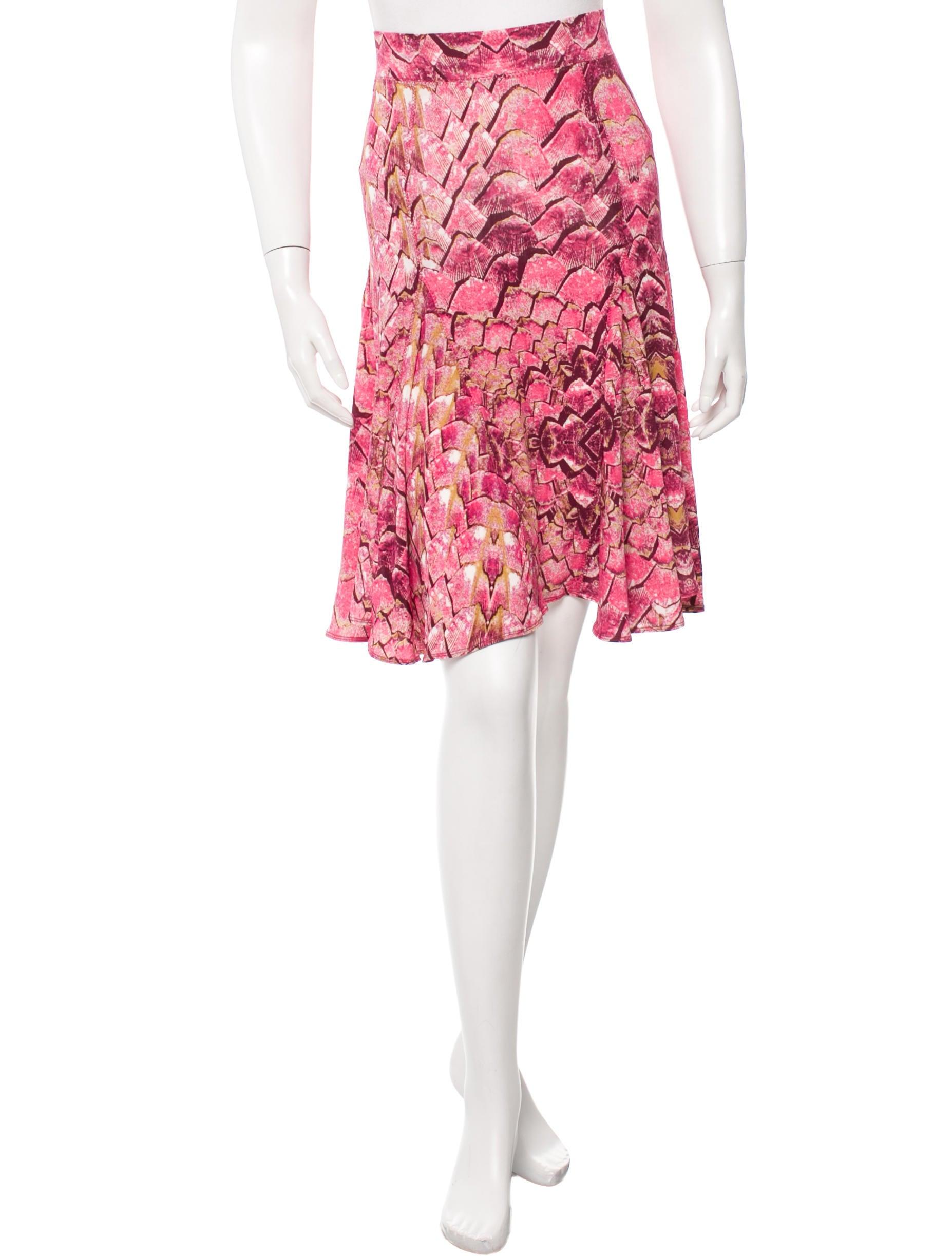 just cavalli printed a line skirt clothing wju24994