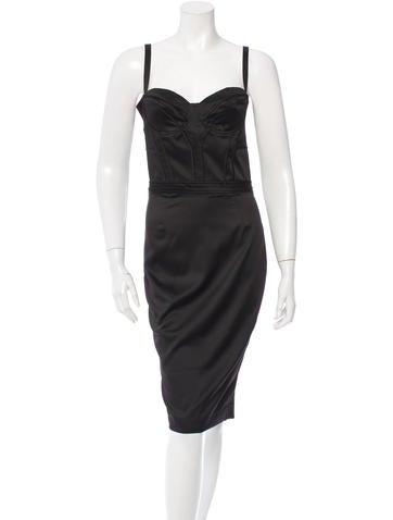 Just Cavalli Satin Sleeveless Sheath Dress