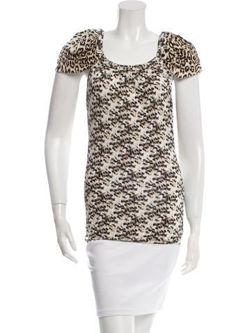 Just Cavalli Leopard Print Top