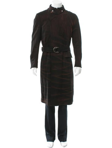 Just Cavalli Belted Wool Coat None