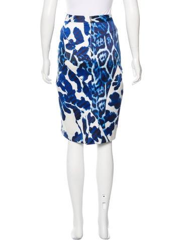 just cavalli leopard print pencil skirt clothing