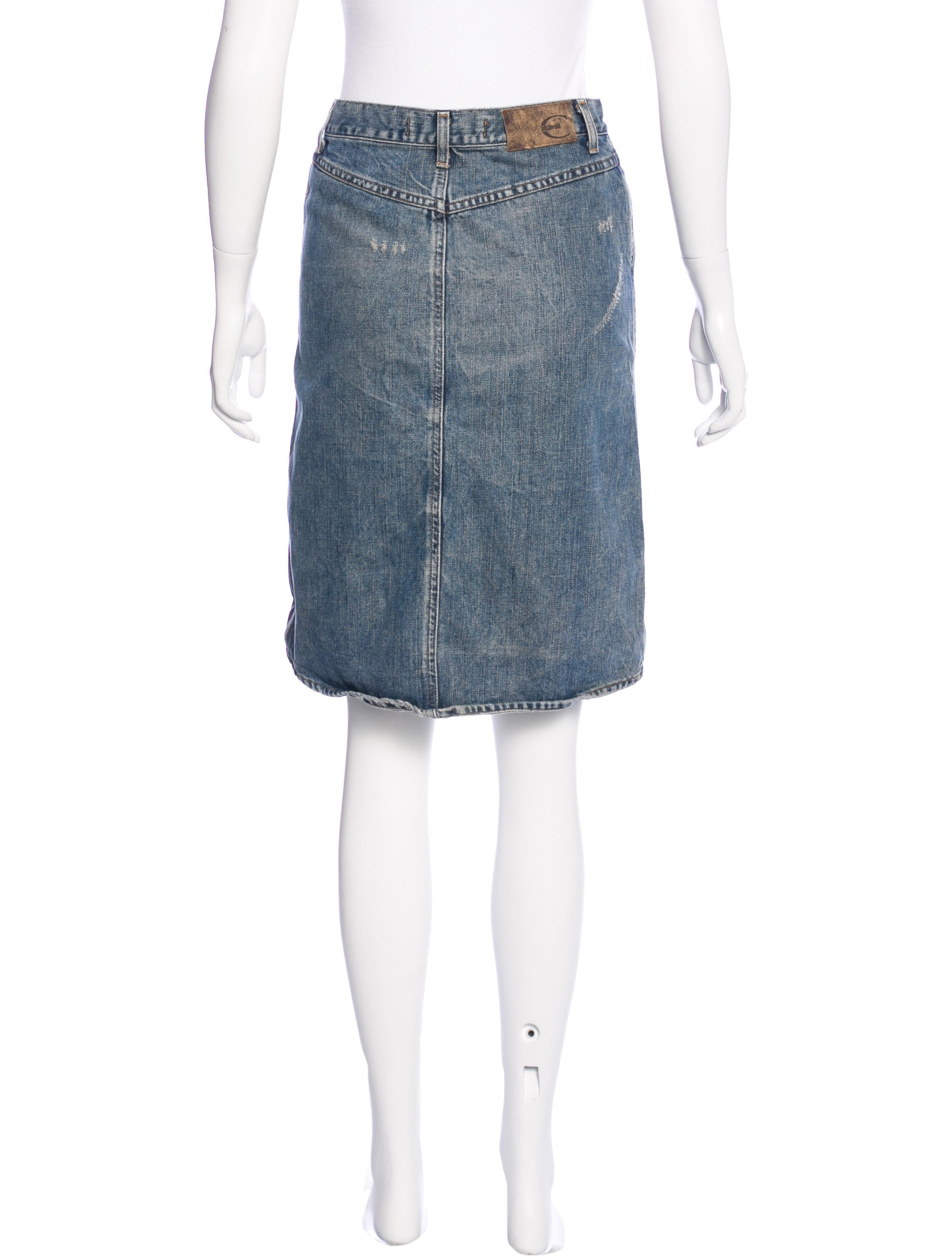 Just Cavalli Distressed Denim Skirt - Clothing - WJU26458 | The RealReal