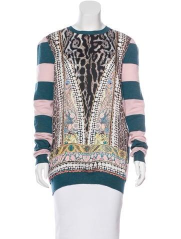 Just Cavalli Print and Stripe Sweater None